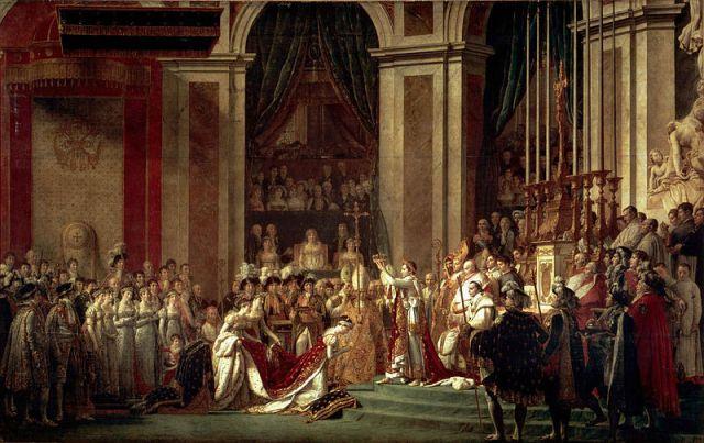 Jacques-Louis_David incoronazione dell'imperatore Napoleone e dell'imperatrice Josephine a Notre Dame di Parigi